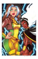 Storm and Rogue by mainasha