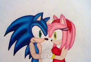 SonAmy: Cute Couple by GothNebula