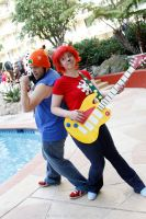 ALA 2013 - PaRappa the Rapper and UmJammer Lammy by BrianFloresPhoto