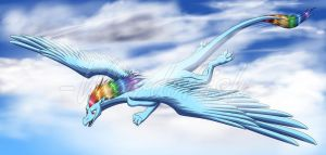 Collab: Rainbow Dragon Dash by WeirdoFish