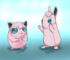 039 Jigglypuff and 040 Wigglytuff by RtRadke