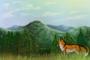 Raymond in the Black Forest by wolffoxin