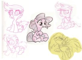 PONY SKETCHES by Marji4x