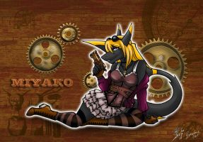 Steampunk Miyako [Collab] by X--The-B-Meister--X