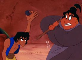 Aladdin Hand Painted Cel by Nippy13