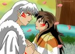 Sesshomaru and Rin Day 1 Holding Hands by SakuraKage91