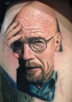 Walter White Tattoo (in Progress) by Pony Lawson by PonyLawson