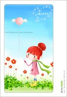 balloon and girl by imququ