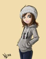 cat sweatshirt girl by taneel