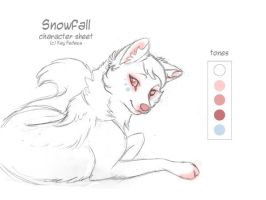 Char sheet 26 - Snowfall by KayFedewa