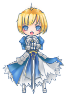 Saber Chibi -- Fate Zero by Nyanfood
