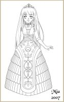THE PRIESTESS OUTLINE by mystical-enigma