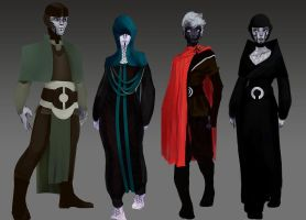 Volkreg Attire/Culture/Status Variants by WindsweptHells