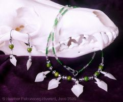 Alligator Gar Scale Necklace 1 by Falconsong