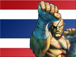 Sagat Wallpaper by BadWolf42