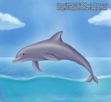 Dolphin in the sea by D-Thessy