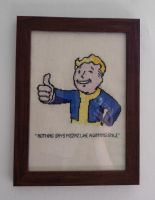 Fallout Charisma Cross-Stitch by rocketjumpwaltz