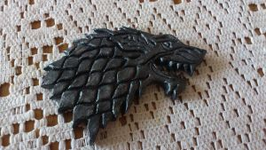 Game of Thrones House Stark Pendant by Jantsu18