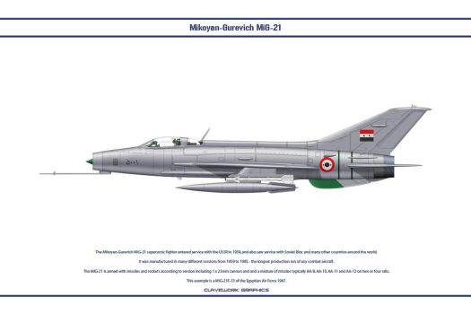 MiG-21 Egypt 1 by WS-Clave