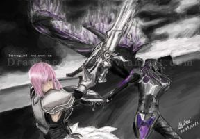 Lightning vs Caius FF13-2 by DrawingArt23