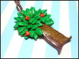 Tree Hugger Necklace by GrandmaThunderpants