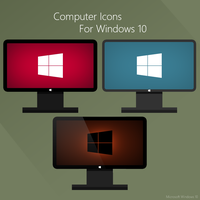 Computer icons for windows 10 by karara160
