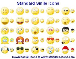 Standard Smile Ikons by yourmailkept