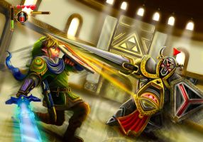 The LEGEND OF ZELDA Hyrule Warrior LINK by Phoenixboy