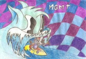 MGMT Drawing by MissCreamBerry