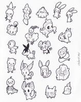 pokemon stickers 2 by despreocupabloart