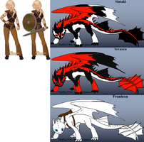 HTTYD OC: Claire and her nightfury's by Maria65