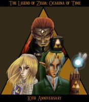 LoZ: OoT - 10th Anniversary by xx--ingie--xx