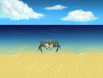 Horned Ghost Crab by KO3LNHA