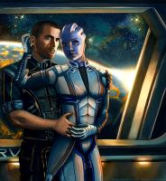 Liara and Shepard - Always here for you. Version 2 by AHague