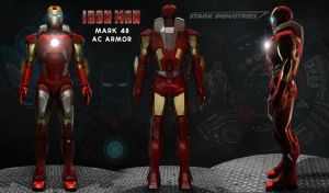 Iron Man Wallpaper - 3D Model Cinema4D by Alex4everdn