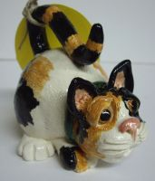 Calico Cat Pottery Whistle by Fourpawpotter