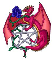 Dragon Rose Pentacle by Dragonrose36