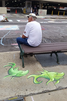 Green Fish ChalkFest Buffalo by charfade