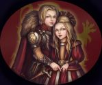 Lannister twins -  Jaime and Cersei by ReihaRin