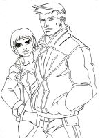 GTA3:Claude and Misty by dmtr1981