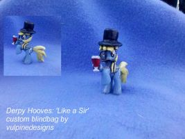 MLP FiM blindbag custom: Derpy Hooves 'Like a Sir' by vulpinedesigns