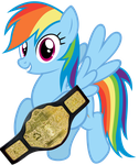 New World HeavyWeight Champion Rainbow Dash by DigiTeku