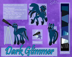 Dark Glimmer Reference Sheet (request) by Felifu
