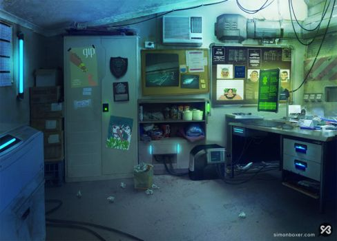 Background - Office by SimonBoxer