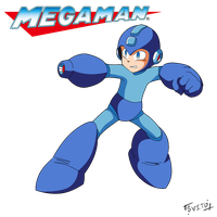 Megaman Classic artwork by Shoutaro-Saito