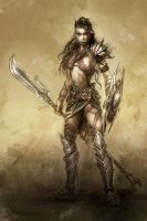 warrior girl by michalivan