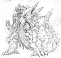 Xerimus Sketch by KaijuSamurai