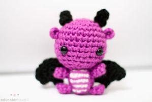 mini purple dragon by tinyowlknits