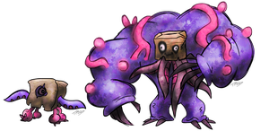 Hideous Fakemon by T-Reqs