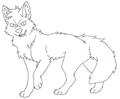 Free Wolf Lineart Thing by Toby-Wolfkat